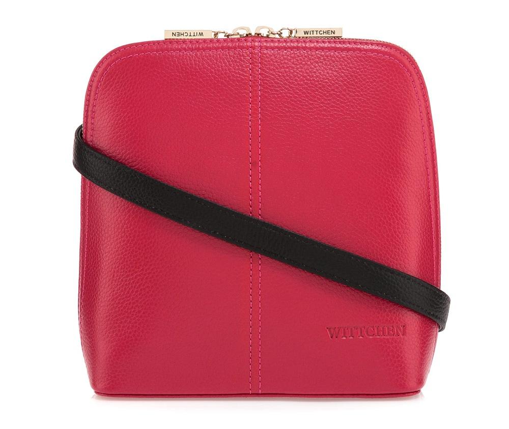 Женская сумка Wittchen 84-4E-107-P1, розовыйСумки из коллекции Elegance. Основное отделение закрывается на молнию и разделено карманом на молнии. Внутри карман на молнии и открытый  карман для мелких предметов. Дополнительно съемный, регулируемый ремень.<br><br>секс: женщина<br>Цвет: розовый<br>материал:: Натуральная кожа<br>тип:: через плечо<br>высота (см):: 20,5<br>ширина (см):: 18,5<br>глубина (см):: 9<br>вмещает формат А4: нет<br>вес (кг):: 0,4