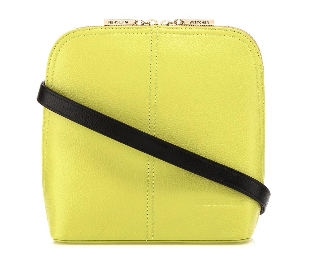 Женская сумка Wittchen 84-4E-107-Z1, лимонныйСумки из коллекции Elegance. Основное отделение закрывается на молнию и разделено карманом на молнии. Внутри карман на молнии и открытый  карман для мелких предметов. Дополнительно съемный, регулируемый ремень.<br><br>секс: женщина<br>Цвет: желтый<br>материал:: Натуральная кожа<br>тип:: через плечо<br>высота (см):: 20,5<br>ширина (см):: 18,5<br>глубина (см):: 9<br>вмещает формат А4: нет<br>вес (кг):: 0,4