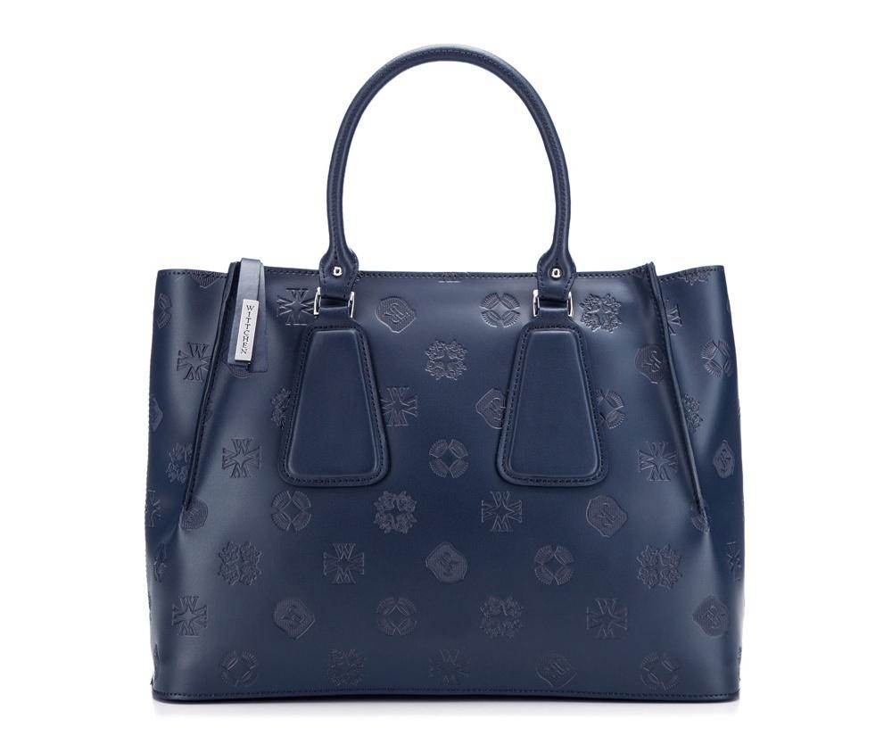 Сумка кожанаяСумка из коллекции Elegance. Основное отделение на молнии. Внутри карман на молнии и открытый карман для мелких предметов. Дополнительно съемный, регулируемый плечевой ремень.<br><br>секс: женщина<br>Цвет: синий<br>материал:: Натуральная кожа<br>тип:: в руке<br>высота (см):: 25<br>ширина (см):: 34<br>глубина (см):: 13<br>вмещает формат А4: да<br>общая высота (см):: 37<br>вес (кг):: 0,7