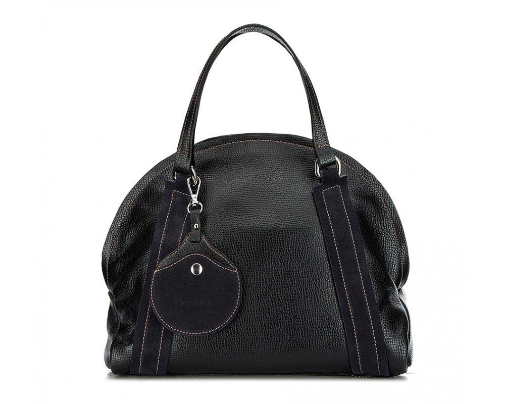 Сумка кожанаяСумка из коллекции Elegance. Основное отделение на молнии. Внутри карман на молнии и открытый карман для мелких предметов. Дополнительно съемный, регулируемый плечевой ремень.<br><br>секс: женщина<br>Цвет: черный<br>материал:: Натуральная кожа<br>тип:: в руке<br>высота (см):: 26<br>ширина (см):: 33<br>глубина (см):: 11<br>вмещает формат А4: нет<br>общая высота (см):: 38<br>вес (кг):: 0,7