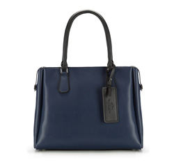 Tote bag, navy blue, 85-4E-207-7, Photo 1