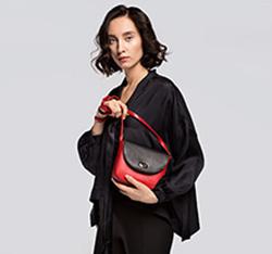 Torebka damska, czerwono - czarny, 85-4E-449-3, Zdjęcie 1