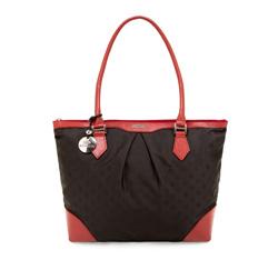 Torebka damska, czarno - czerwony, 85-4E-916-13J, Zdjęcie 1