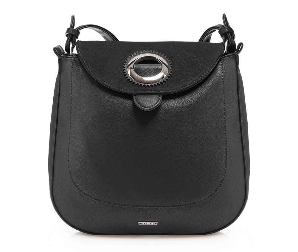b0a02709cb301 Klasyczna torebka damska ze skóry ekologicznej, na ramię | WITTCHEN | 85 -4Y-215