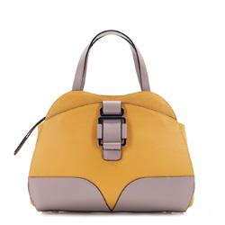 Torebka damska, żółto - beżowy, 86-4E-006-X03, Zdjęcie 1