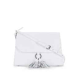 Flap bag, white, 86-4E-211-0, Photo 1