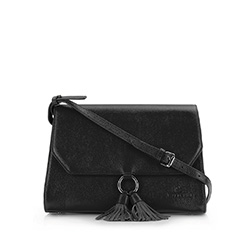 Flap bag, black, 86-4E-211-1, Photo 1