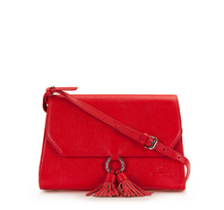 Flap bag, red, 86-4E-211-3, Photo 1