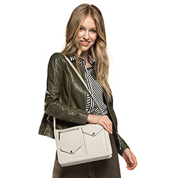 Shoulder bag, ecru, 86-4E-217-0, Photo 1