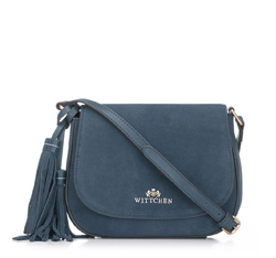 Flap bag, navy blue, 86-4E-223-7, Photo 1