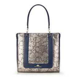 Tote bag, navy blue, 86-4E-370-7, Photo 1