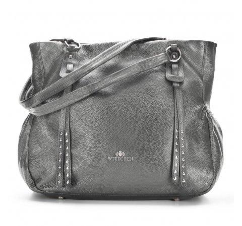 ff1ddbd38db97 Skórzana torba damska shopper na ramię | WITTCHEN | 86-4E-382