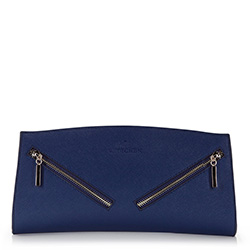 Clutch bag, navy blue, 86-4E-425-7, Photo 1