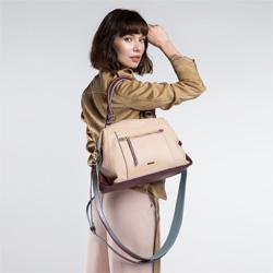 Tote bag, dark beige, 86-4Y-101-9, Photo 1