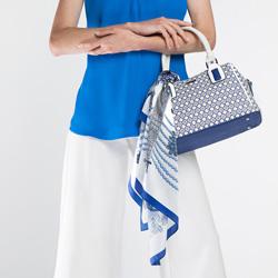 Torebka damska, biało - niebieski, 86-4Y-108-X01, Zdjęcie 1