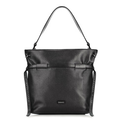 Shopper bag, black, 86-4Y-117-1, Photo 1