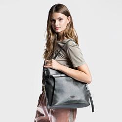 Shopper bag, grey, 86-4Y-117-8, Photo 1