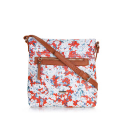 Cross body bag, white-red, 86-4Y-301-3, Photo 1