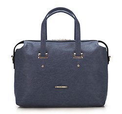 Tote bag, navy blue, 86-4Y-415-7, Photo 1