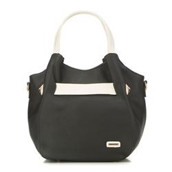 Tote bag, black-beige, 86-4Y-659-1, Photo 1