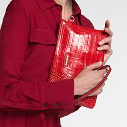 Clutch bag, red, 86-4Y-662-3, Photo 1