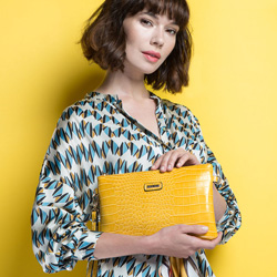 Clutch bag, yellow, 86-4Y-662-9, Photo 1