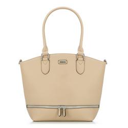 Tote bag, light beige, 86-4Y-663-9, Photo 1