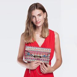 Clutch bag, multicoloured, 86-4Y-801-X01, Photo 1