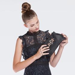 Clutch bag, black, 86-4Y-809-1, Photo 1