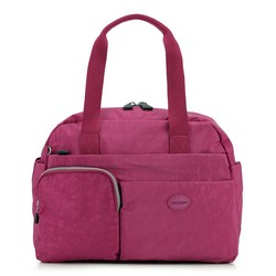 Women's handbag, dark pink, 86-4Y-902-2, Photo 1