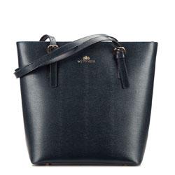 Shopper bag, navy blue, 87-4-316-N, Photo 1