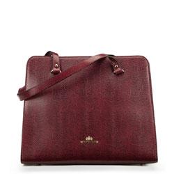 Tote bag, burgundy, 87-4-366-3, Photo 1