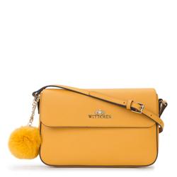 Torebka damska, żółty, 87-4-419-Y, Zdjęcie 1