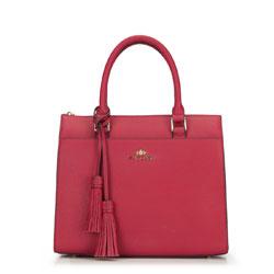 Tote bag, burgundy, 87-4-518-3, Photo 1