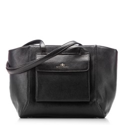 Shopper bag, black, 87-4E-200-1, Photo 1