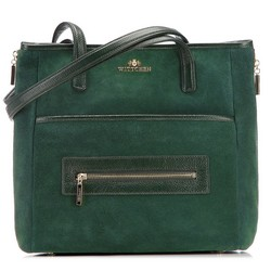 Shopper bag, green, 87-4E-218-Z, Photo 1