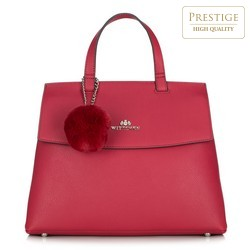 Tote bag, raspberry, 87-4E-405-2, Photo 1
