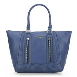 Shopper bag, navy blue, 87-4Y-400-7, Photo 1