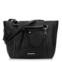 Shopper bag, black, 87-4Y-405-1, Photo 1