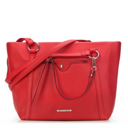 Shopper bag, red, 87-4Y-405-3, Photo 1