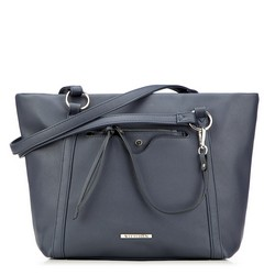 Shopper bag, navy blue, 87-4Y-405-7, Photo 1