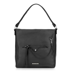 Hobo bag, black, 87-4Y-406-1, Photo 1