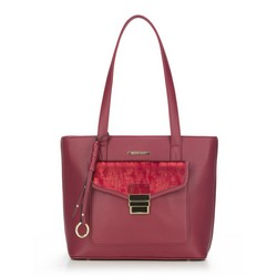 Shopper bag, burgundy, 87-4Y-419-2, Photo 1