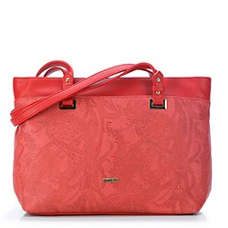 Shopper bag, red, 87-4Y-552-3, Photo 1