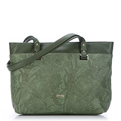 Shopper bag, khaki green, 87-4Y-552-Z, Photo 1