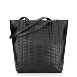 Shopper bag, black, 87-4Y-555-1, Photo 1