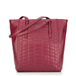 Shopper bag, burgundy, 87-4Y-555-3, Photo 1