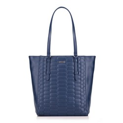 Shopper bag, navy blue, 87-4Y-555-7, Photo 1