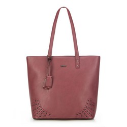 Shopper bag, burgundy, 87-4Y-559-3, Photo 1