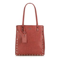 Shopper bag, red, 87-4Y-560-3, Photo 1